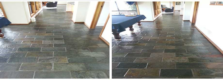 Majority of the house covered in slate  photos show before the slate was  stripped and. GroutPro Tile and Grout Specialists Australia   Tile Regrouting