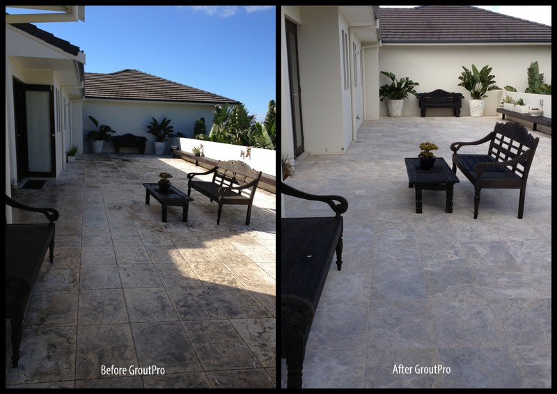 Clean and Seal Stone Courtyard