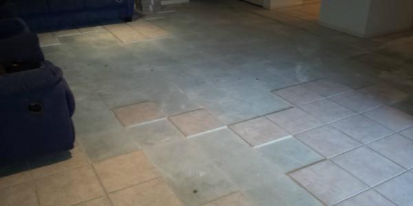 Area of tiles to repair