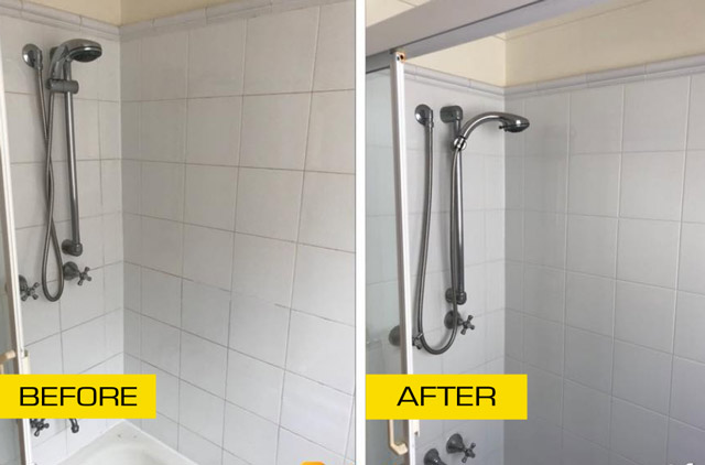 tile cleaning job melbourne before after