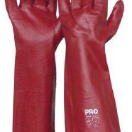 Red Chemical PVC Gloves – 45cm long