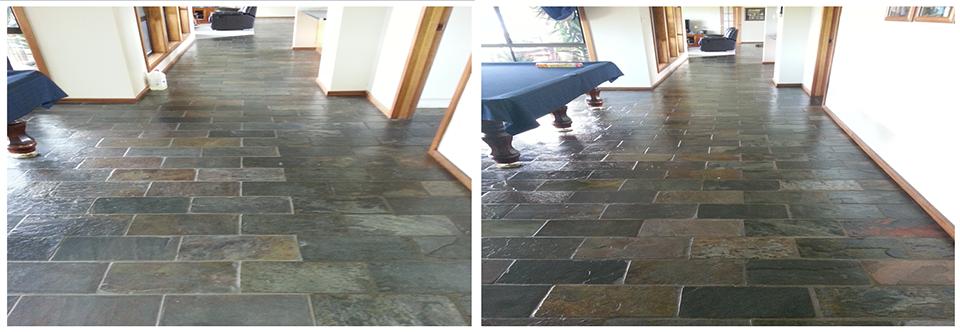 Slate Floor tile Clean and Seal