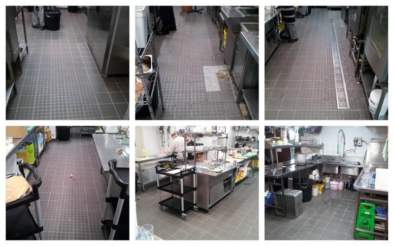 A full kitchen clean, ColourSeal and silicone replacement, photo's show the before and after of the services