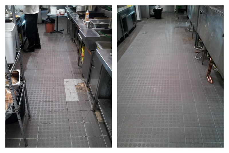 Before photo's of the kitchen when the treatment had not been started and after photo's when the treatment had been completed