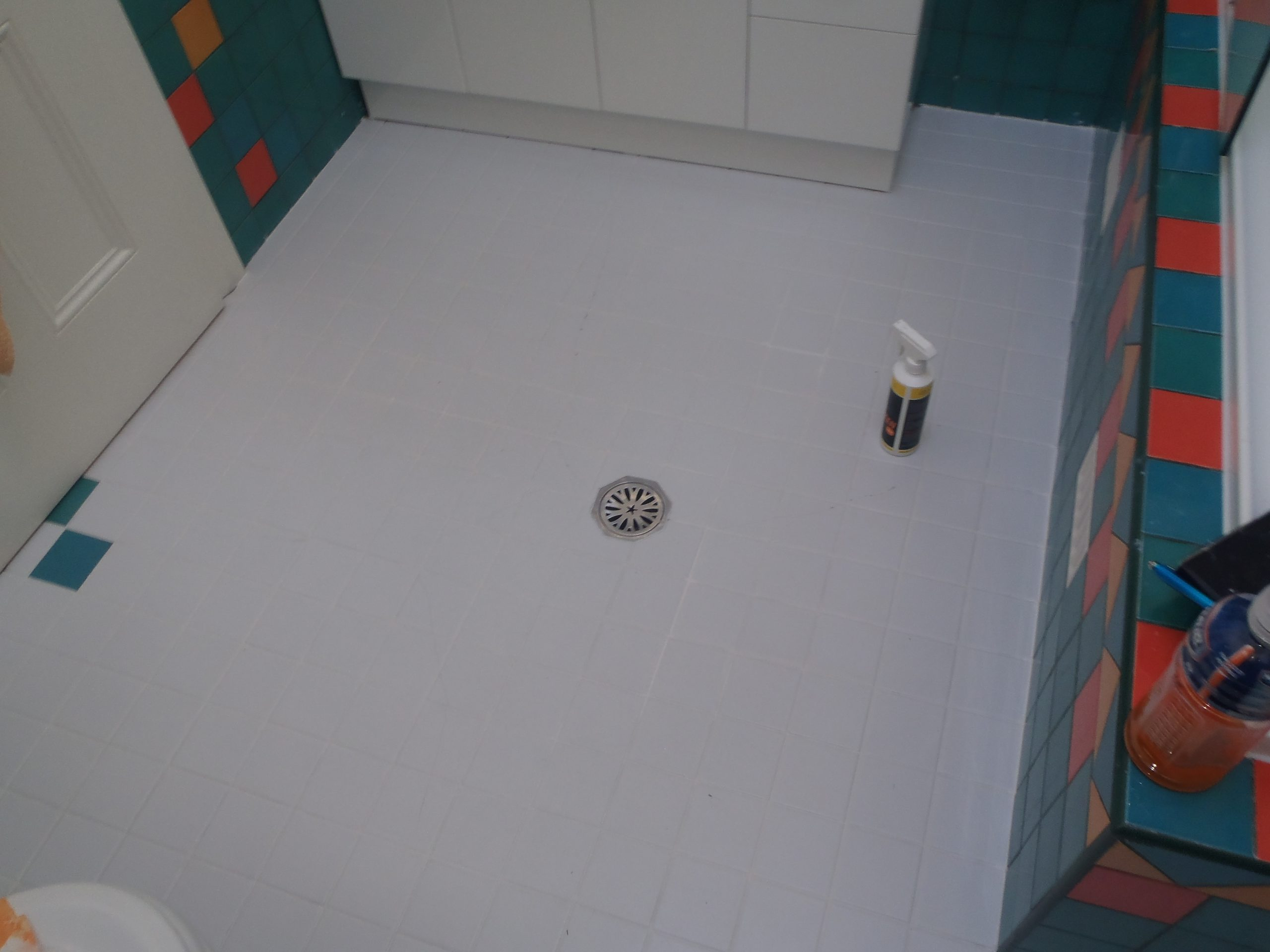 The Grout once the white colour was applied