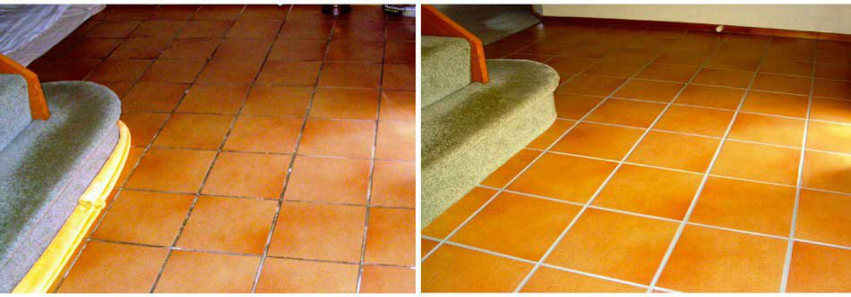 Grout dirty to clean