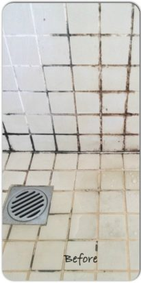 shower tray before