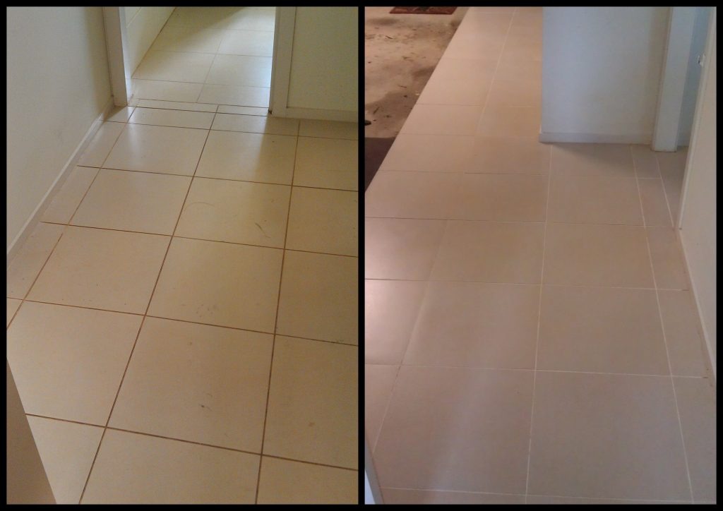 tile cleaning before and after in Miranda