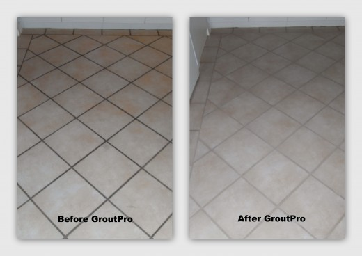 Grout ColourSealing before and after floor