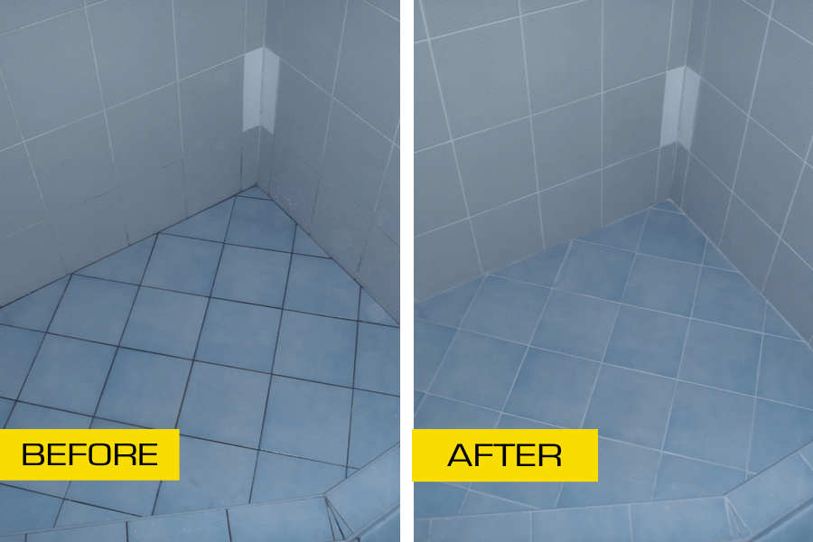 shower floor before and after