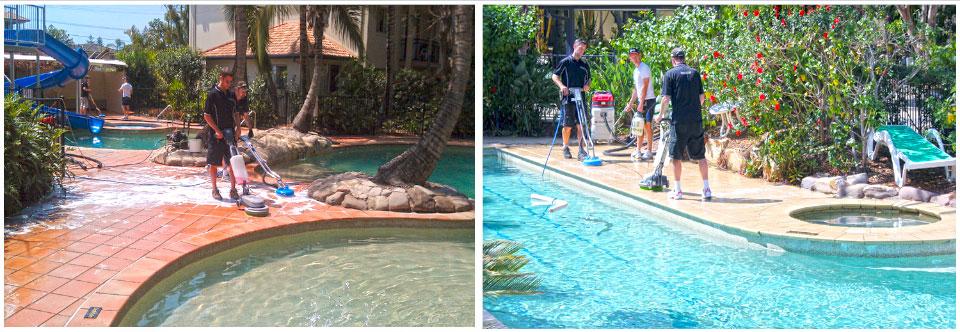 GroutPro Slippery Floor Treatment around Pool