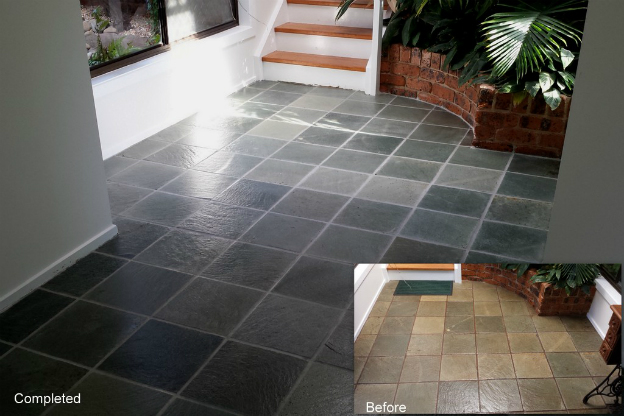 Terracotta and slate sealing and cleaning service