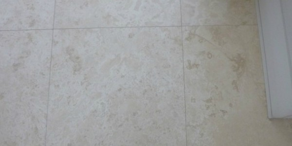 Travertine Cracked Tiles after being repaired.